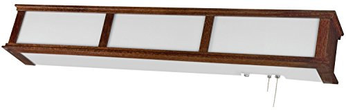AFX Lighting CMB325CHE8 Acrylic Overbed Light Fixture, Cherry Wood - Overbed Light