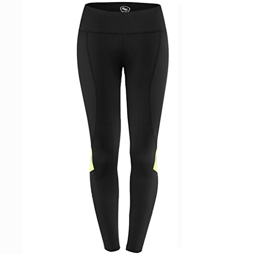 NOOYME Women's Compression Workout Leggings Pants (S, Fluorescent Green)