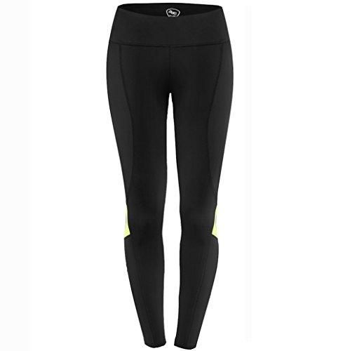 NOOYME Women's Compression Workout Leggings Pants (XL, Fluorescent Green)