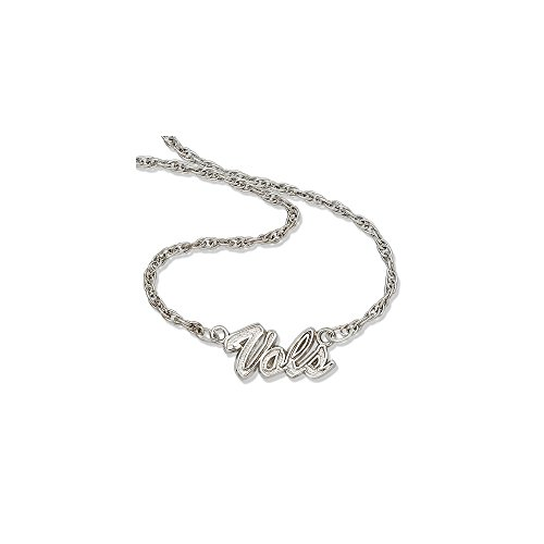 (Sterling Silver University of Tennessee NCAA Tennessee Jewelry Cable Necklaces UNIV OF TENNESSEE VOLS SCRIPT NECKLACE)