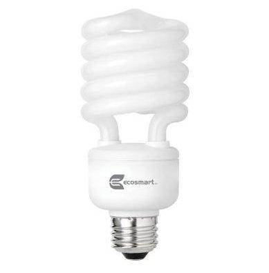 Ecosmart 14-Watt Daylight Compact Flourescent (CFL) Light Bulbs 20-Pack (equivalent to standard 60 watt bulbs)