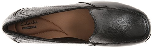 Clarks Mujer Gael Angora Loafer Negro