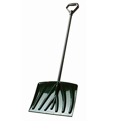 Suncast SN1250 18-Inch Snow Shovel with Wear Strip, Green