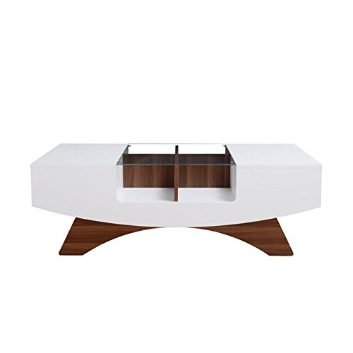 ioHOMES Markham Contemporary 2-Drawer Coffee Table, White