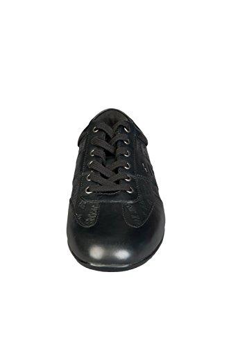 Armani Jeans 06.534 Full Läder Svart Tränare Svart