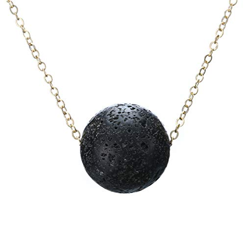 Iumer Lava Bead Stone Shape Pendant Essential Oil Diffuser Necklace,Ball by IumerIU (Image #1)