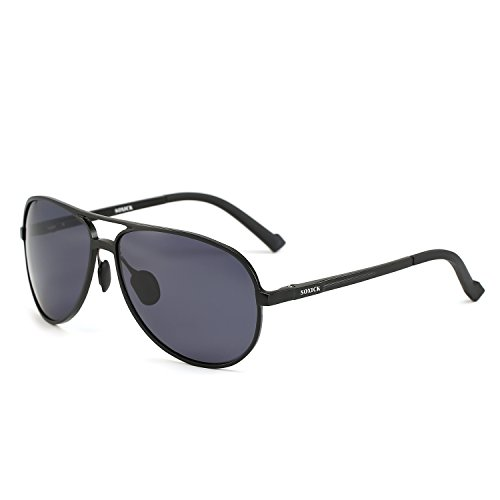 Polarized Sunglasses for Men - Great For Sports, Fishing, Driving Without Glare (black-2, black)