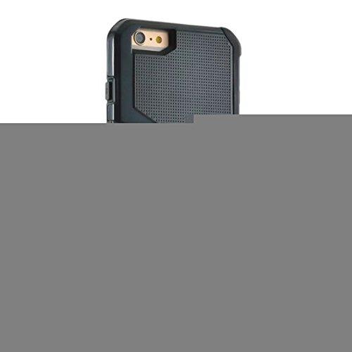 """iPhone 6 Coque,iPhone 6S Coque,Lantier souple intérieure TPU Bumper & Shell dur massif Combo PC Shock-Absorption & Anti-Scratch hybride double couche mince couverture pour Apple iPhone 6/6S 4.7""""Dark B"""