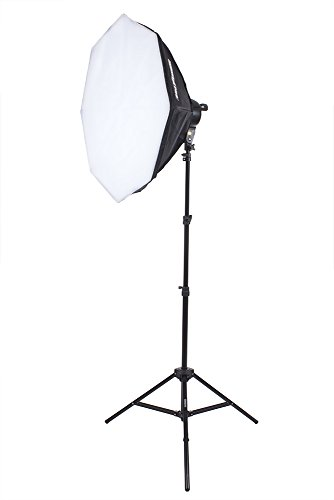 StudioPRO Single 3000W Continuous Lighting Output for Portrait Photography, Photo & Video Shoots - Includes (1) 7 Socket Light Head & Stand, (1) 32'' Octagon Softbox & (7) 85W CFL Light Bulb by StudioPRO