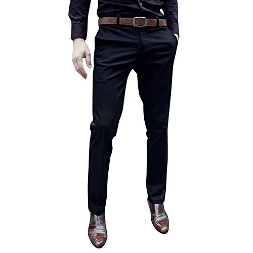 Autunno Unita Gamba Autunnali Nero Slim Fit Pantaloni Primavera Tinta Da Dritta Uomo Lavoro A Color vBBn4w7Fq
