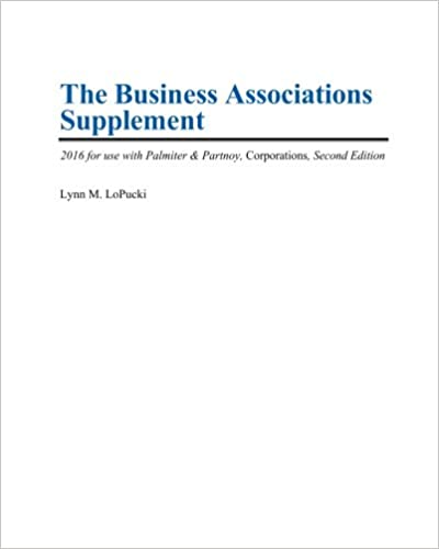 The business associations supplement 2016 for use with palmiter the business associations supplement 2016 for use with palmiter partnoy corporations second edition 2nd edition fandeluxe Image collections