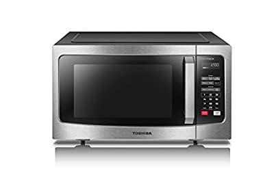 Toshiba EM245A5C-BS Microwave Oven with Inverter Technology and Smart Sensor, 1.6 Cu.ft, 1250W, Black Stainless Steel