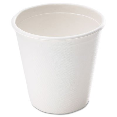 NatureHouse Compostable Sugarcane Bagasse Hot/Cold Cups, 12oz., White, 1000/Case by Nature House