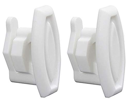 2 Pack Repairwares Dishwasher Top Rack Slide End Cap Stop Clip WD12X10304 WD12X0344 1556527 AP4484666 WD12X344 WD12X10238 WD30X0097 WD30X97