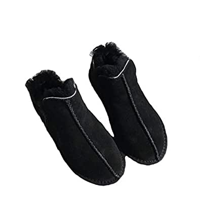 Amazon.com | New Winter Ankle Boots Wool Fur Woman Slip On