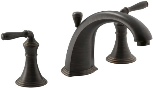 Kohler K-T387-4-2BZ Devonshire Deck Mount Bath Faucet Trim, Oil Rubbed Bronze ()