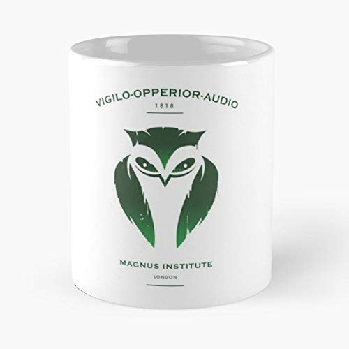 Podcast Horror Dark Owl - Best Gift Mugs Green Shield Emblem Coat Of Arms Plaque Academic Spooky Death Fear Terror Black Ghost Monster Best Personalized Gifts