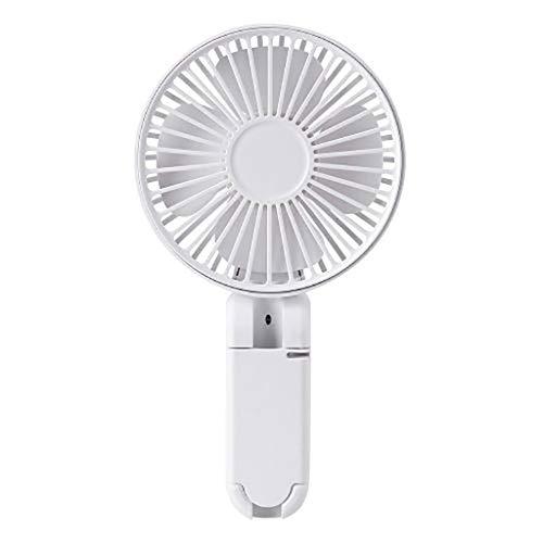 USB Fan,Tower Window Battery Fan Ceiling Fan, Mini Handheld Fan with Stand Cradle USB Wind Blower Indoor Outdoor Fan (White)