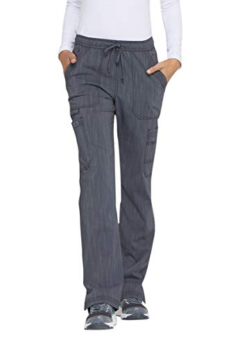 (Women's Advance Two-Tone Twist Mid Rise Bootcut Drawstring Scrub Pants)