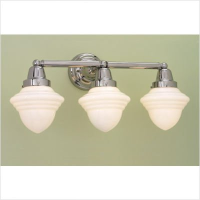 Bradford Bathroom Vanity Light (Norwell Lighting 8203-BN-AC / 8203-PN-AC Bradford Schoolhouse Three Light Bath Vanity Finish: Brushed Nickel)