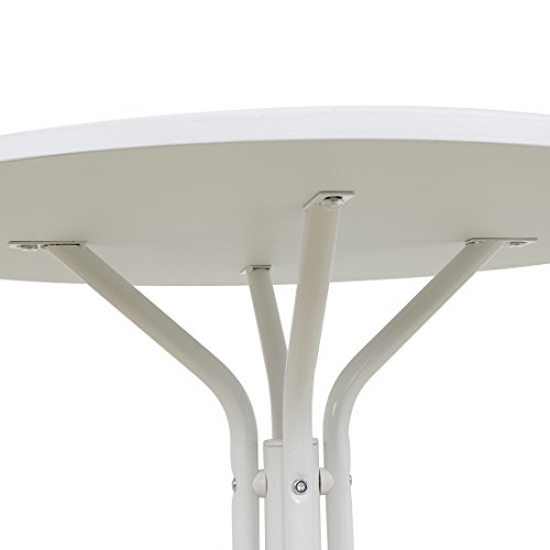 Funmall White Modern Round Table Tea Coffee Dining Living Room Furniture Home Decor with Splayed Leg Base by Funmall (Image #3)'