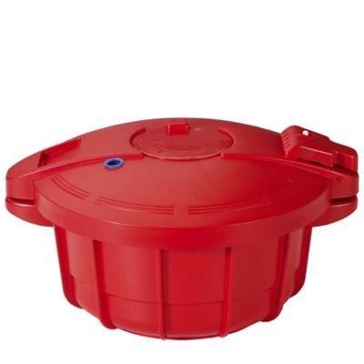 Olla a presión para microondas Lakeland, color rojo, 2,2 ...