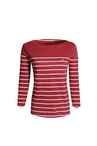 - Polo Ralph Lauren Womens 3/4 Sleeve Boat Neck T-Shirt (Medium, Nantucket Red Stripes)