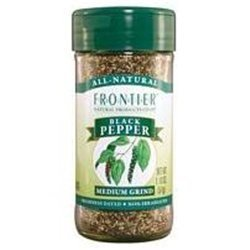 Frontier Herb Bulk Pepper Organic Black Medium Grind, 1 P...