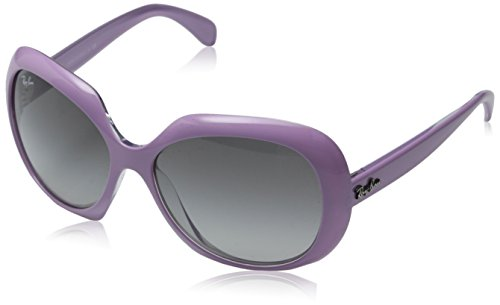 Ray-Ban INJECTED WOMAN SUNGLASS - TOP PINK ON TRANSPARENT Frame GREY GRADIENT DARK GREY Lenses 55mm Non-Polarized by Ray-Ban