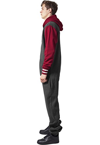 College Sweat Jumpsuit cha/ruby XS/S