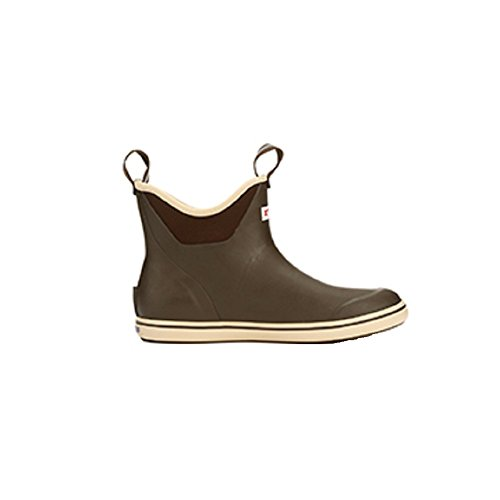 XTRATUF Performance Series 9'' Men's Full Rubber Ankle Deck Boots, Chocolate & Tan (22734) by Xtratuf