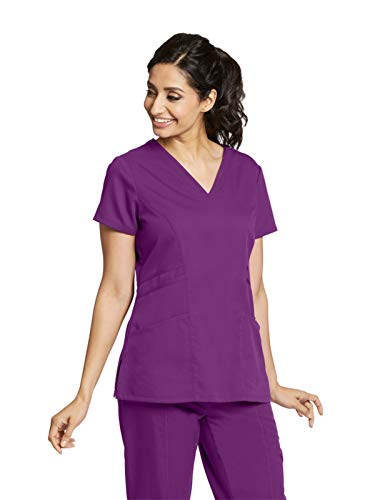 Grey's Anatomy 41452 V-Neck Top Very Berry XL