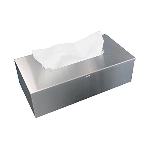 JunSun Tissue Box Cover Rectangular Holder-Wall Mounted or Freestanding Use for Bathroom Brushed Nickel Tissue Holder Tissue Paper Cover Wall Mount Tissue Box Holder Toilet Paper Cover (Tissue Steel Stainless Box)