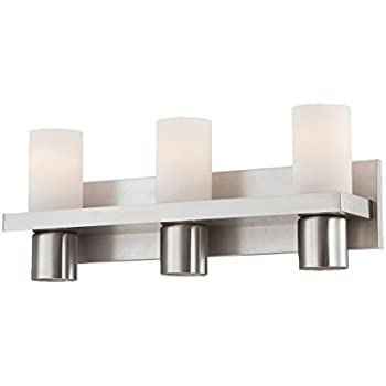 Eurofase 23278 028 Pillar 3 Light Bath Bar Bathroom Light  Brushed Nickel. Eurofase 23279 025 Pillar 4 Light Bath Bar Bathroom Light  Brushed