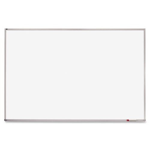 Quartet Writing Board - 72quot; Width x 48quot; Height - White Melamine Surface - Anodized Aluminum Frame - Film - 1 Each by Quartet