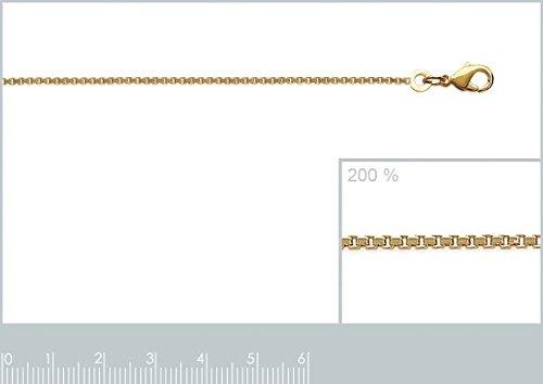 ISADY - Vénitia Gold 1,5 - Chaîne Maille Vénitienne Diamantée - Plaqué Or 750/000 (18 carats) - Longueur 45 cm - Largeur 1,5