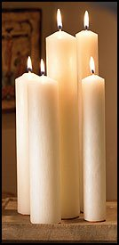 US Gifts Altar Brand; Freak 3 Self-Fitting End Candle 51% Paraffin Wax 1'' X 12 7/8'' Pack of 18