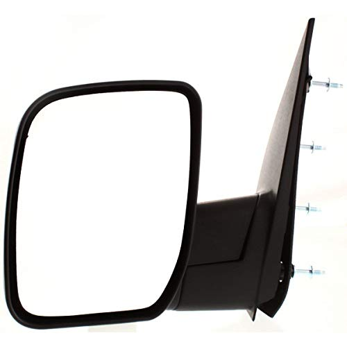 New Left Driver Side Mirror Manual For 2008-2009 Ford Van Ford Econoline Manual Folding Non-Heated Non-Towing Without Puddle Light Tex FO1320337