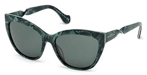 Sunglasses Balenciaga BA 52 BA0052 61N green horn / green