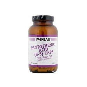 Twinlab Acide pantothénique B-5 Caps - 500 mg - 200 Capsules