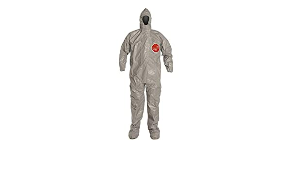 DuPont Tychem 6000 Hooded and Booted Coverall, Gray, X-Large ...