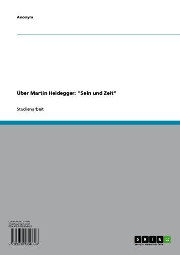 """Über Martin Heidegger: """"Sein und Zeit"""" (German Edition)"""