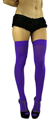 ToBeInStyle Women's Long Schoolgirl Stockings (Purple) -