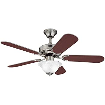 Hampton bay glendale 42 in brushed nickel ceiling fan westinghouse 7877365 richboro se two light 42 inch reversible five blade indoor ceiling mozeypictures Image collections