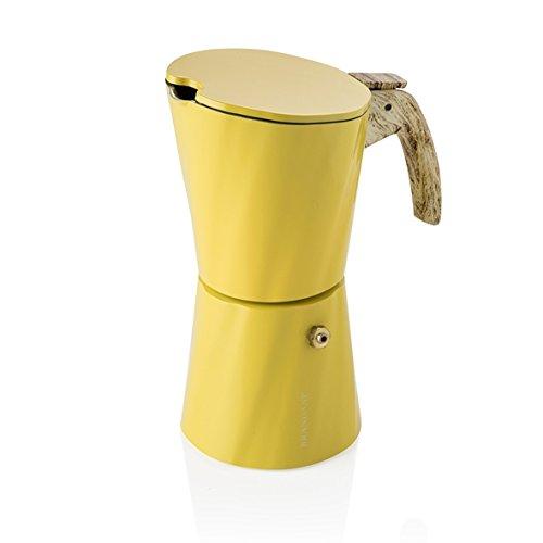 Cafetera Brandani Tower Vintage 4 tazas Amarillo aluminio ...