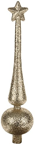 Christmas Tree Toppers In Gold Red White Silver & Champagne Star Tree Topper (Champagne, Spike) CB