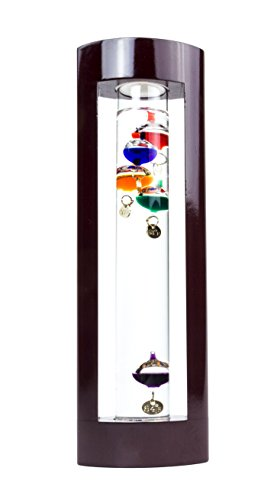 Galileo Thermometer in Cherry Finish Frame - 11'' by Red Co.