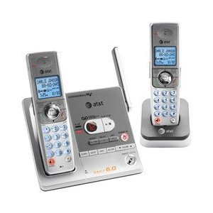 AT&T SL82218 DECT 6.0 Digital Dual Handset Answering System - Titanium and Carbonite
