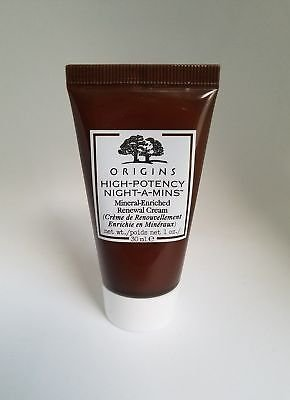 Mineral Cream Night (Origins High-Potency Night-A-Mins Mineral-enriched Renewal Cream 1 oz/30 ml Tube)