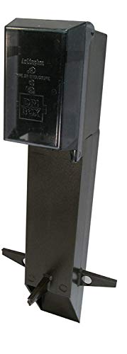 GPD19BR-1 Gard-N-Post Low-Profile Outdoor Landscape Lighting Post Enclosure with Outlet Cover, 19.5-Inch, Bronze, 1-Pack